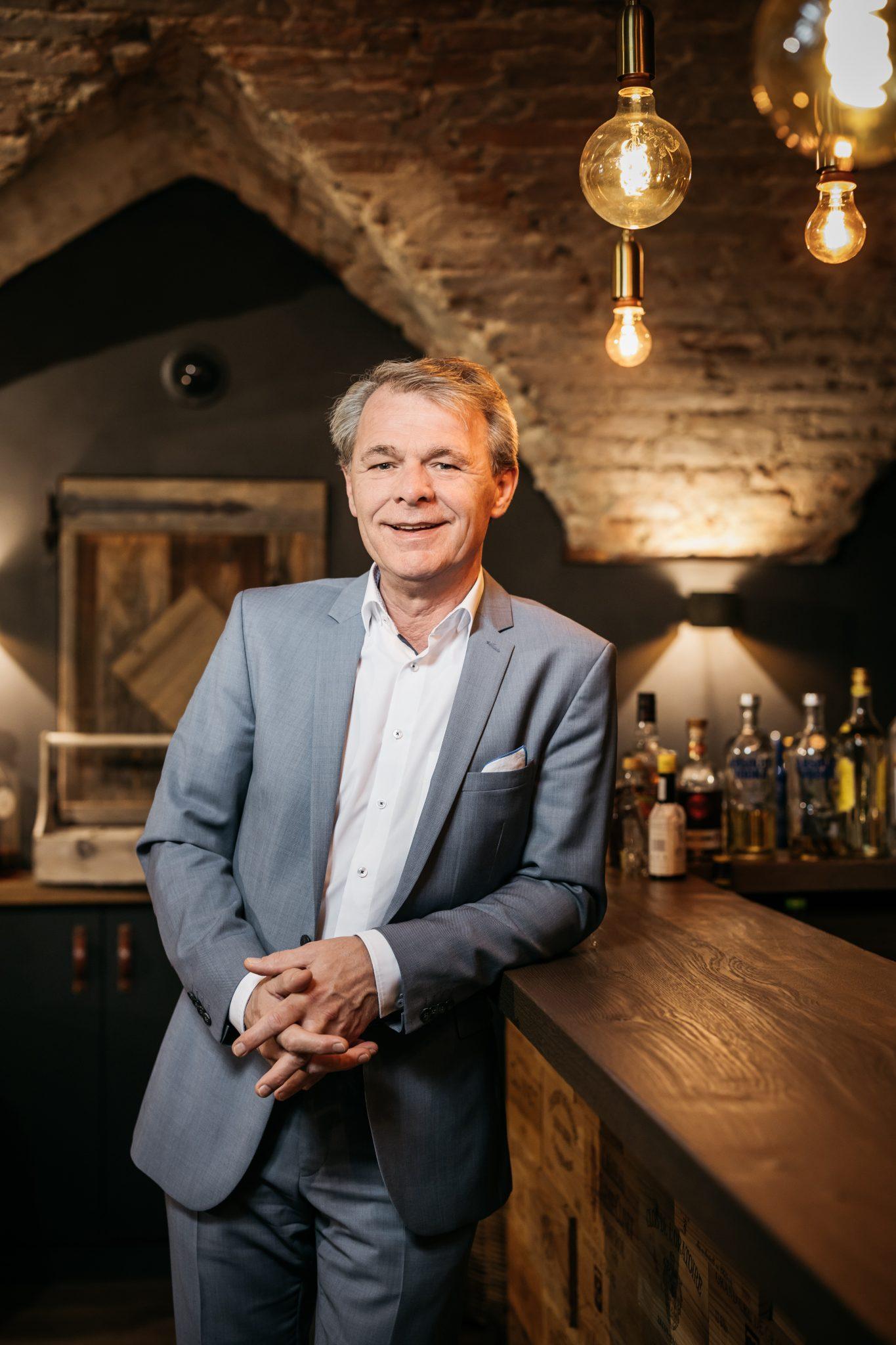 Thomas Edelkamp, Vorstandsvorsitzender der Romantik Hotels & Restaurants AG, Bad Aibling, 10.2.2020, Foto: Thorsten Jochim